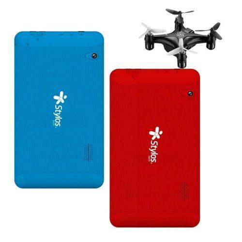 Oferta 2x1 Combo Tablet Stylos 8gb Quadcore + Mini Drone