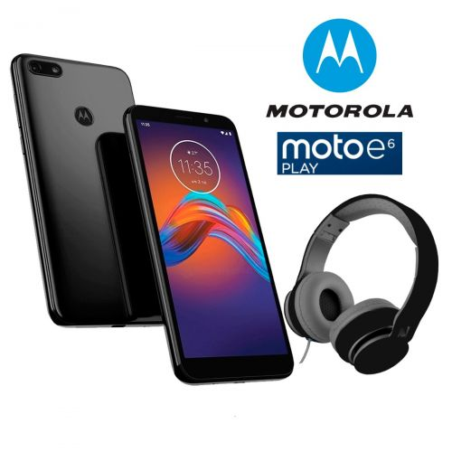 Celular Motorola Moto E6 Play 32GB 2Gb Ram + Audifonos – Negro