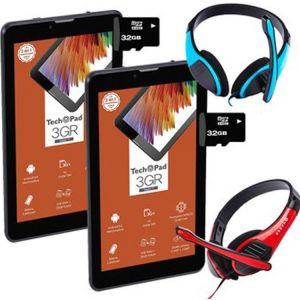 Oferta! 2x1 Tablet TechPad 3GR 16GB - 3G + MicroSd 32gb y Audifonos - Gris