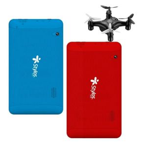 Oferta 2x1 Combo Tablet Stylos 8gb Quadcore + Mini Drone