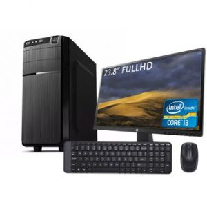 Computadora Pc Intel  Core i3  SSD 120GB Ram 8gb + Monitor 23.8 FHD + Teclado y mouse Inalambrico