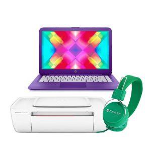 Laptop Hp Stream 14-CB013WM Intel Dual Core Ssd 32gb Ram 4gb + Kit – Morada