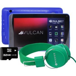 Tablet Vulcan Pulse 7 8Gb 1Gb Ram Quad Core + KIT - Azul