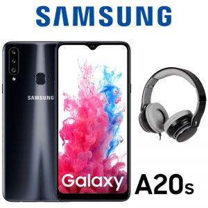 Celular Samsung Galaxy A20s 32GB 3Gb Ram Dual Sim + Audifonos Negro
