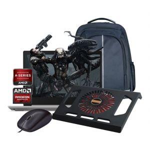 Laptop Lenovo Amd A4 500gb Ram 4gb W10 + Kit