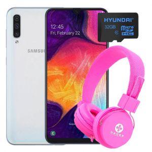 Celular Samsung Galaxy A50 64GB 4GB Dual Sim –Blanco + Kit