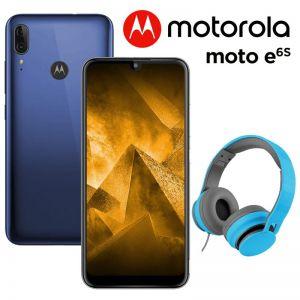 Celular Motorola Moto E6 S 64GB Dual Sim + Diadema - Azul