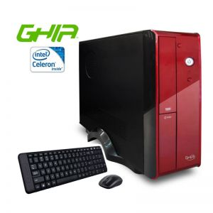 Computadora Ghia /DVD+RW - Windows 10 Home /Celeron/Quad core j1900/1.99-2.4ghz/2gb/500gb/n + Mouse y Teclado Logitech MK220