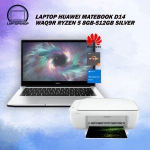 LAPTOP HUAWEI MATEBOOK D14 WAQ9R RYZEN 5 8GB-512GB SILVER