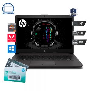 LAPTOP HP 245 G7 AMD RYZEN 3 2300U 1TB-8GB DDR4 NEGRO + CERTIFICADO CLOUD DRIVE DE 2TB