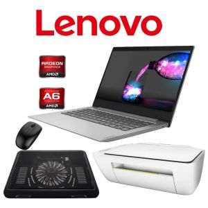 "Laptop Lenovo Ideapad 14AST-05 AMD A6-9220 4GB 64GB EMMC 14"" + KIT - Gris"