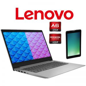 "Laptop Lenovo Ideapad 14AST-05 AMD A6-9220 4GB 64GB EMMC 14"" + Tablet- Gris"