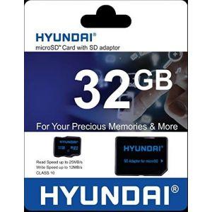 Memoria Microsd 32gb. Hyundai Clase 10 Con Adaptador