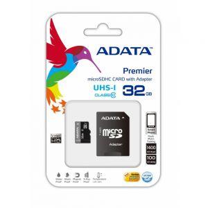Memoria SD 32gb ADATA clase 10 +adaptador