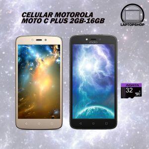CELULAR MOTOROLA MOTO C PLUS 2GB-16GB DORADO/NEGRO DUAL SIM