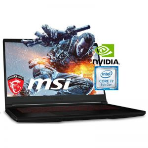 Laptop Gamer MSI GF63 8RD 15.6 Core i7-8750H 8GB 1TB+128GB SSD NVIDIA GeForce GTX1050Ti