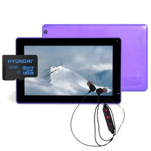 Tablet Android Digital2 9 Deluxe Ii 8gb + Sd 32gb y Diadema - Morado
