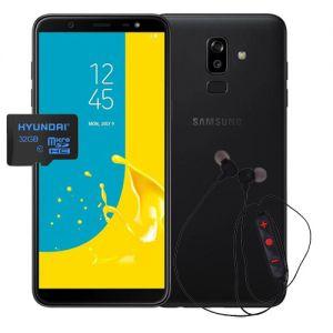 Celular Samsung Galaxy J8 32GB Dual Sim– Negro + micro sd 32 y audifonos bluetooth