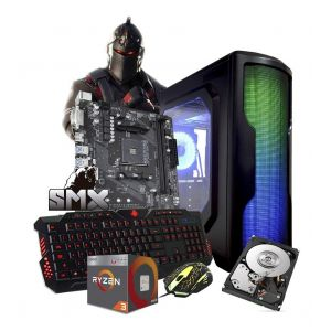 Computadora Pc Gamer Ryzen 3 Hdd 1tb Ram 8gb Radeon + Kit