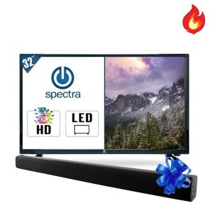 "Pantalla Spectra 32-HDSP 32"" Led Hd + Barra de Sonido Bluetooth"