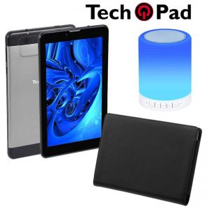 "Combo Tablet TechPad 7"" 3G16gb 3G + funda y Bocina"
