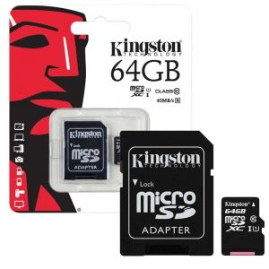 MEMORIA MICRO SD KINGSTON 64GB CLASS 10